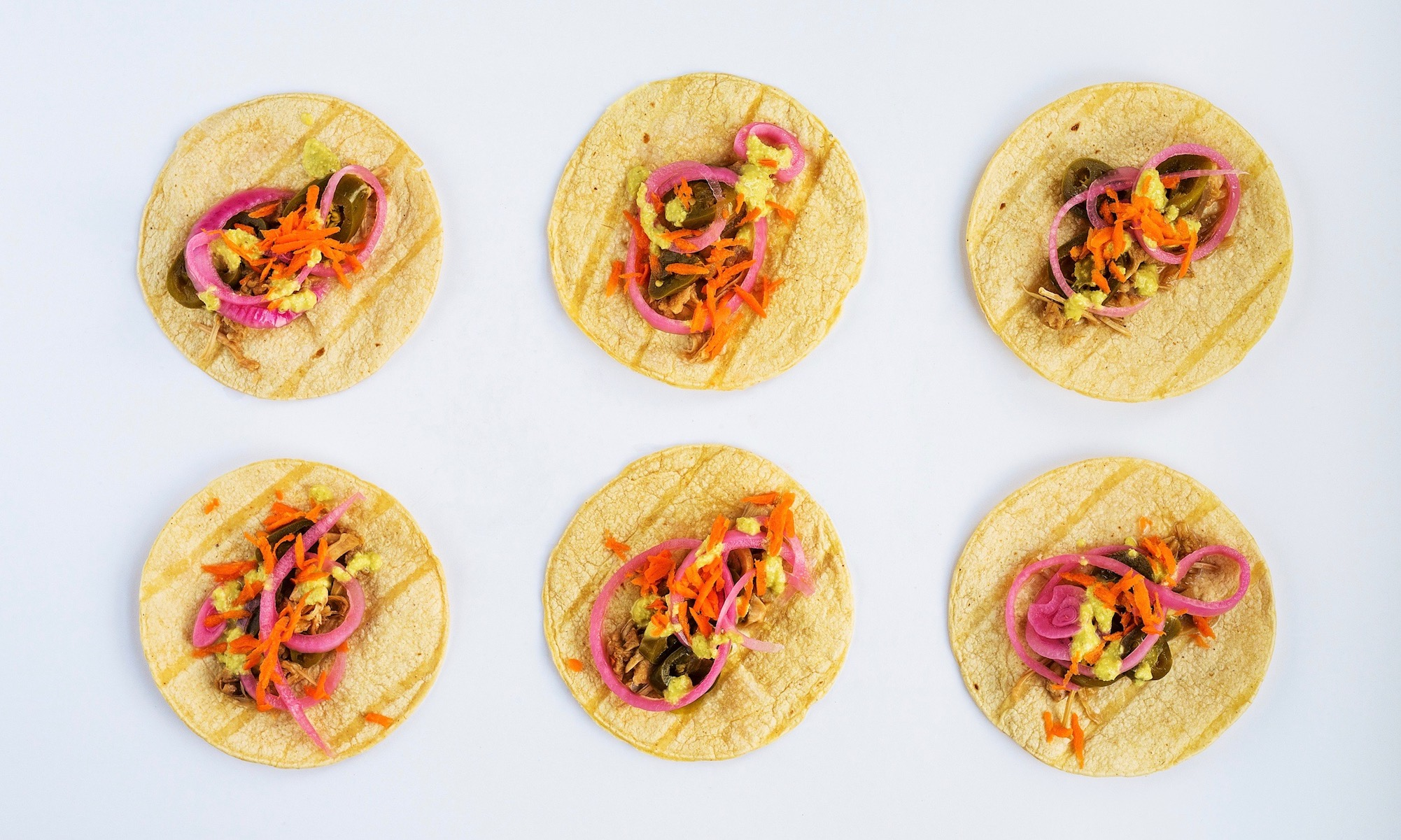 Sweet & Smoky Jackfruit Tacos with Pickled Veggies