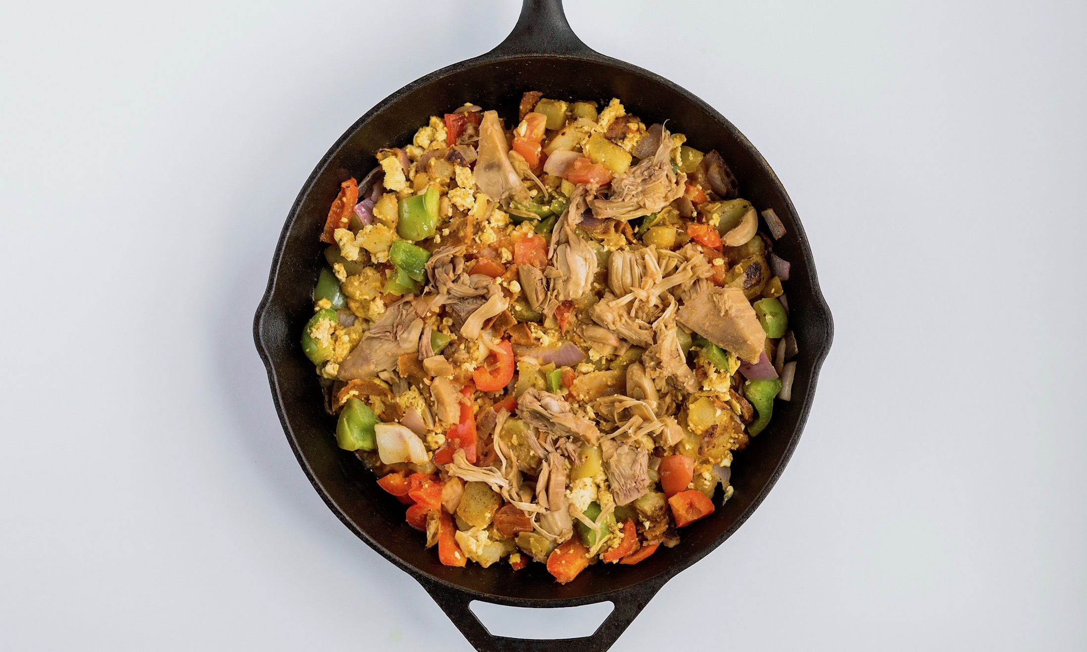Sweet & Smoky Tofu Scramble Hash