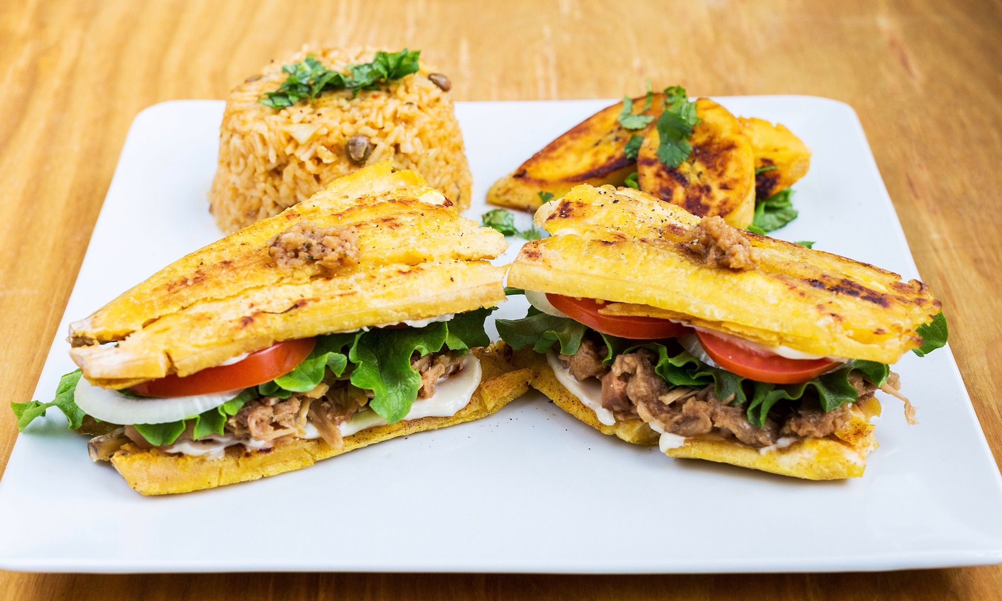 Sweet and Smoky Jackfruit Jibarito