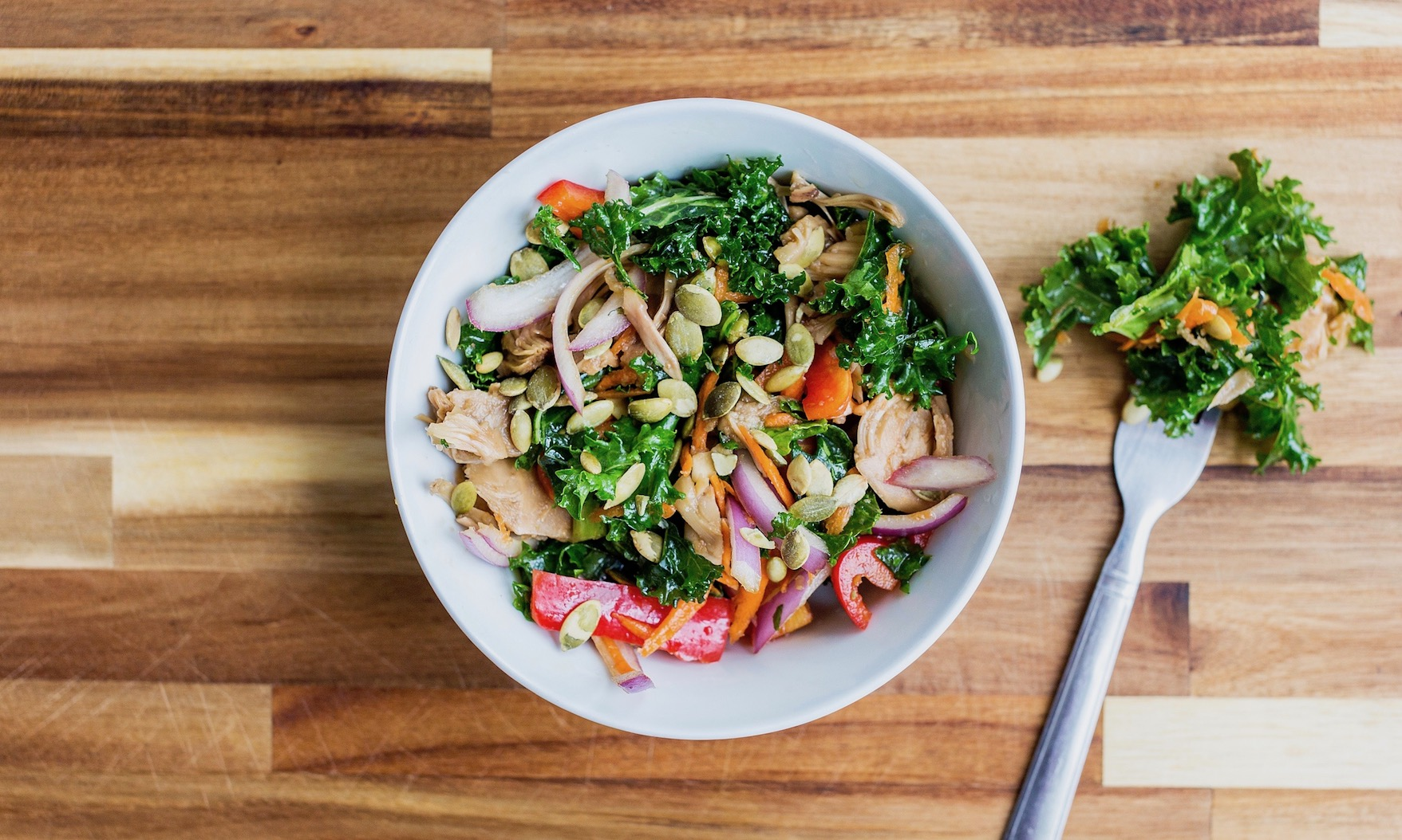 Sweet & Smoky Ginger Sesame Kale Salad